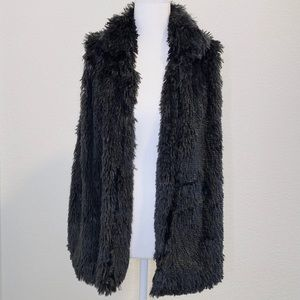 Very Soft Grey Faux Fur Vest